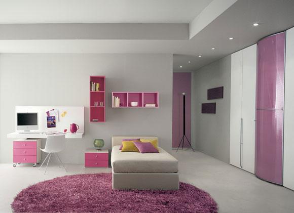 Recamara juvenil para chicas en rosado y gris plomo o for Habitaciones nina baratas