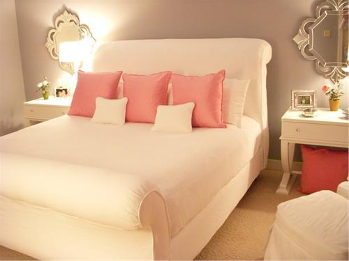 pink and white bedroom ideas recamara juvenil para chicas en rosado y gris plomo o 19465