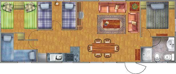 Planos de casas de 52 60m2 con 3 dormitorios planos de for Planos de casas de 3 dormitorios