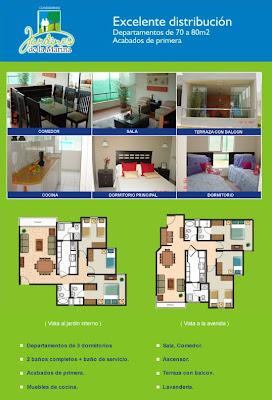 Planos de departamentos peque os de 70m2 a 80m2 planos for Modelos salas para departamentos pequenos