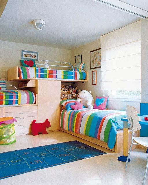Dormitorio para hermanos dormitorio para hermanas - Habitaciones infantiles unisex ...