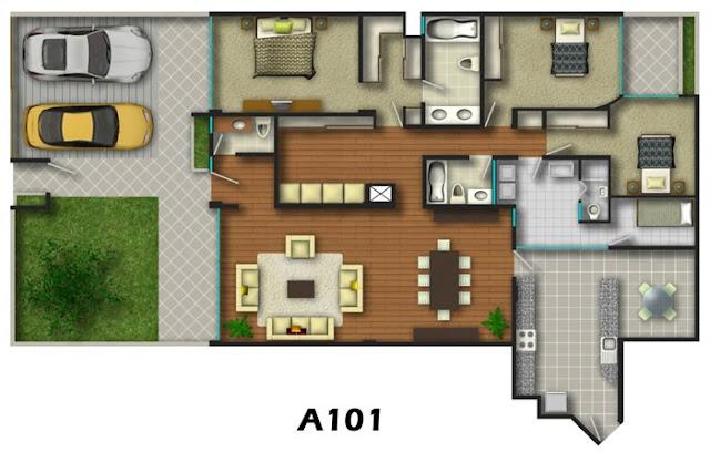 Planos de viviendas en edificio y condominios video 3d for Planos de viviendas de una planta