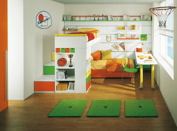 Medidas de seguridad para dormitorios infantiles con - Escaleras para camas altas ...