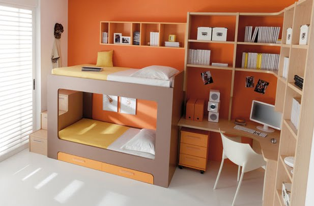 Muebles para dormitorios juveniles infantiles - Muebles infantiles para habitaciones pequenas ...