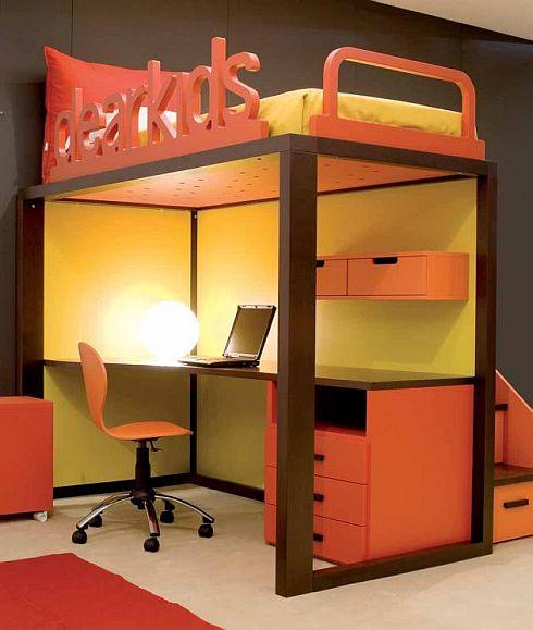 dormitorio de adolescente con poco espacio via