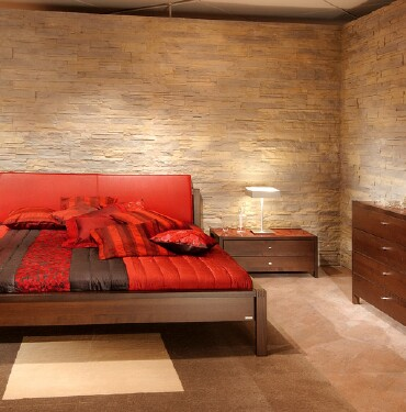 Dormitorio CON PIEDRAS STONES IN THE BEDROOM
