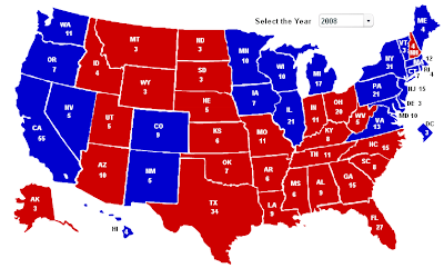 states drakar obama q3a map maps mccain