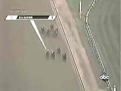 第140回ベルモントステークス(GⅠ、ベルモントパーク競馬場、ダート2400m)向こう正面