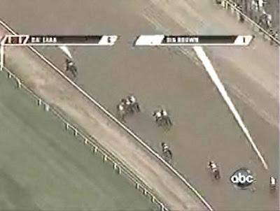 第140回ベルモントステークス(GⅠ、ベルモントパーク競馬場、ダート2400m)直線入り口