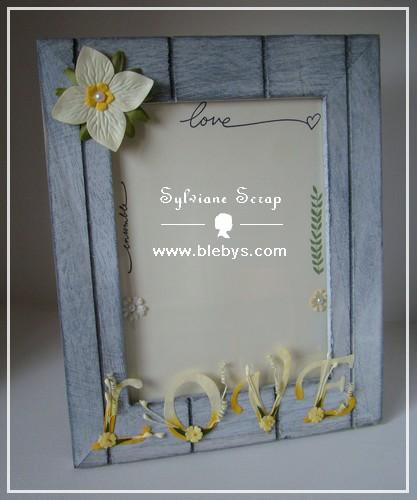 sylviane scrap cadre photo love. Black Bedroom Furniture Sets. Home Design Ideas