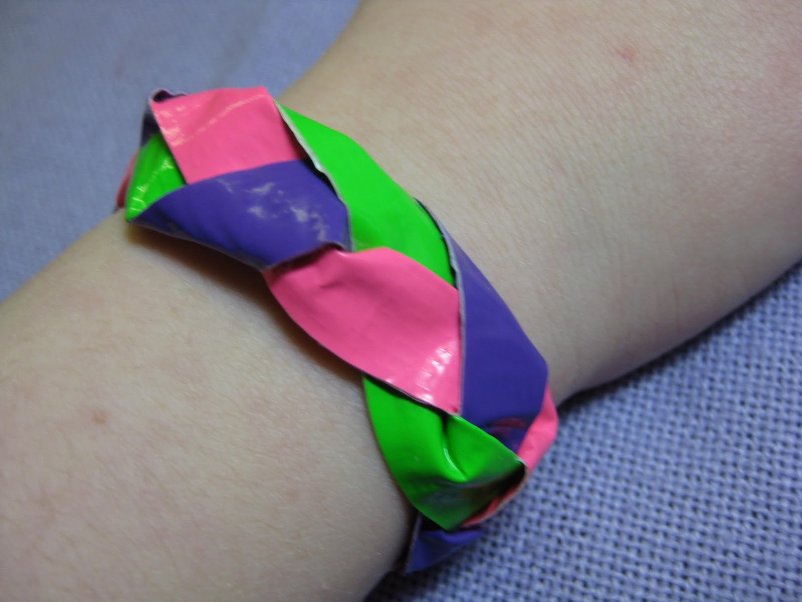New Jewelry A Day Make Braided Duct Tape Bracelet