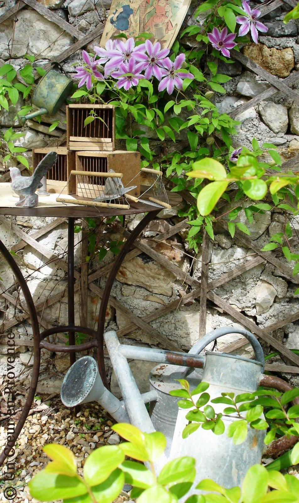 Un coeur en provence invitation au jardin for Au jardin de ma grand mere