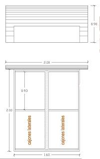 Artefactos cama doble con espaldar y mesas de noche for Cama doble precio