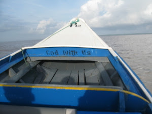 Speedboat on Essequibo