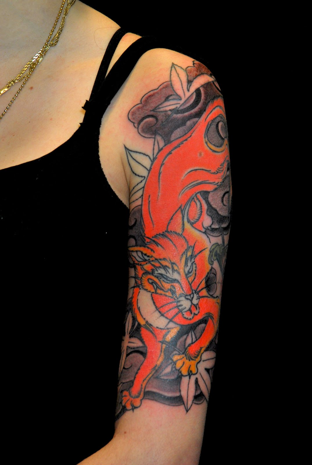 Traditional Kitsune Tattoo: Kitsune Tattoo Idea