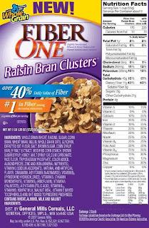 Fiber One Raisin Bran Clusters