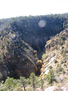 Walnut Canyon: Another view of the valley/ gorge