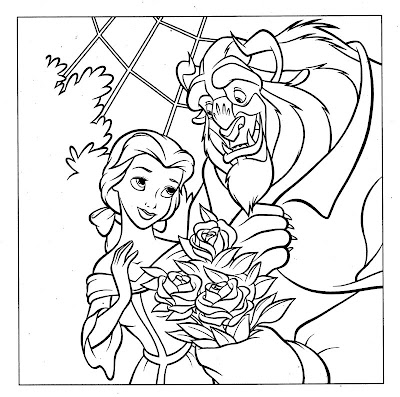 Belle and the beast coloring pages ~ ibeaa1ico: coloring pages disney princess belle