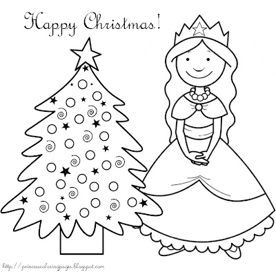 christmas princess coloring pages - photo#15