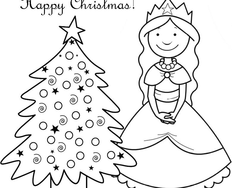 Interactive Magazine: CHRISTMAS PRINCESS COLOURING PAGE