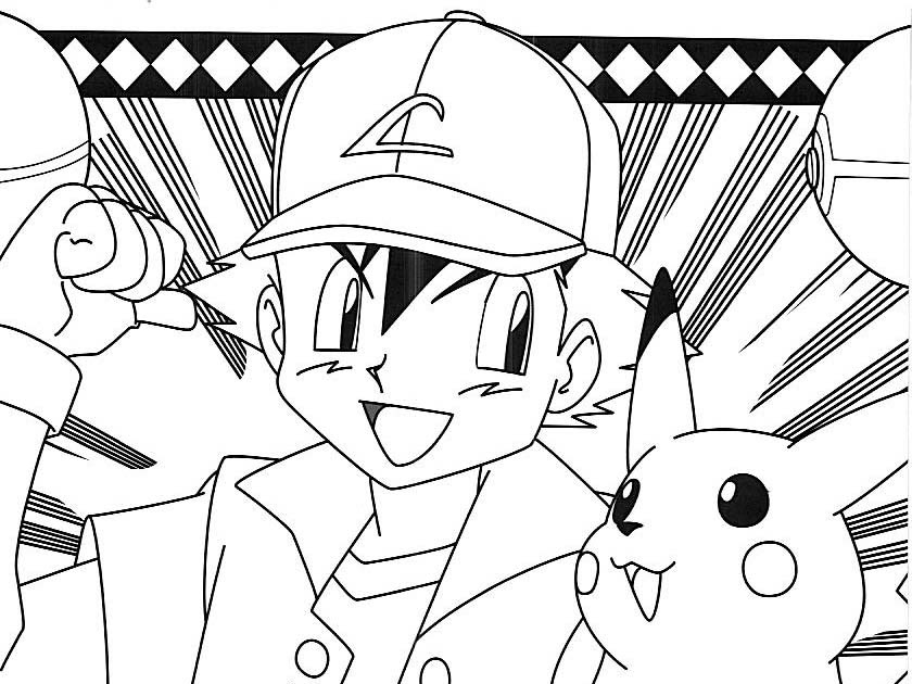 Pokemon coloring pages saveenlarge