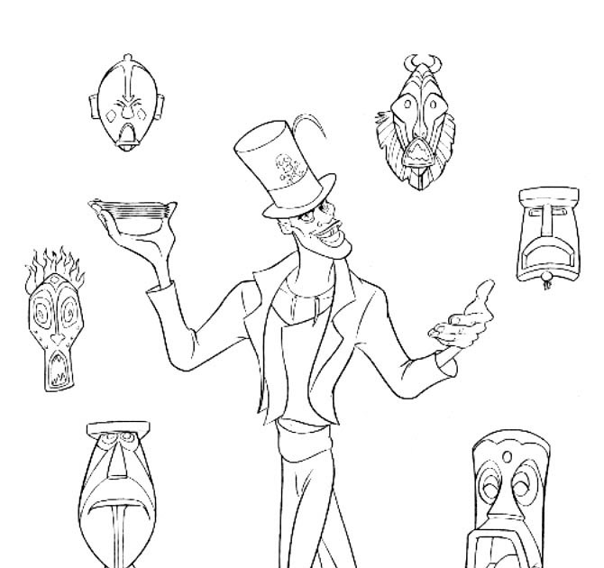 dr facilier coloring pages | Interactive Magazine: DR FACILIER COLORING PAGE