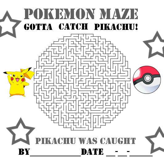 Pokemon Coloring Pages Pikachu And Pokeball Maze Pokemon Activity Sheet
