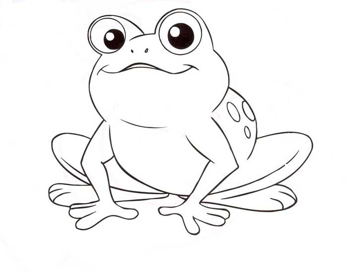 Free coloring pages of f is for frog for Free printable frog coloring pages