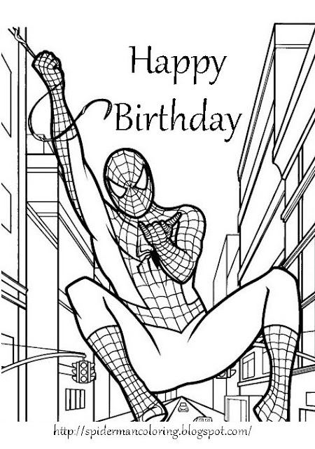 Batman Happy Birthday Coloring Page Coloring Pages
