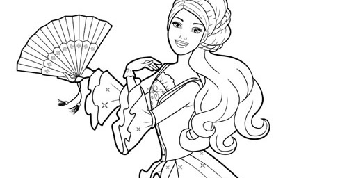 BARBIE COLORING PAGES: BARBIE VIDEO SONG