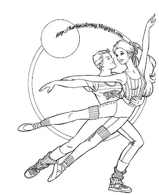 Barbie Coloring Pages Barbie Dancer Tennis Player And On