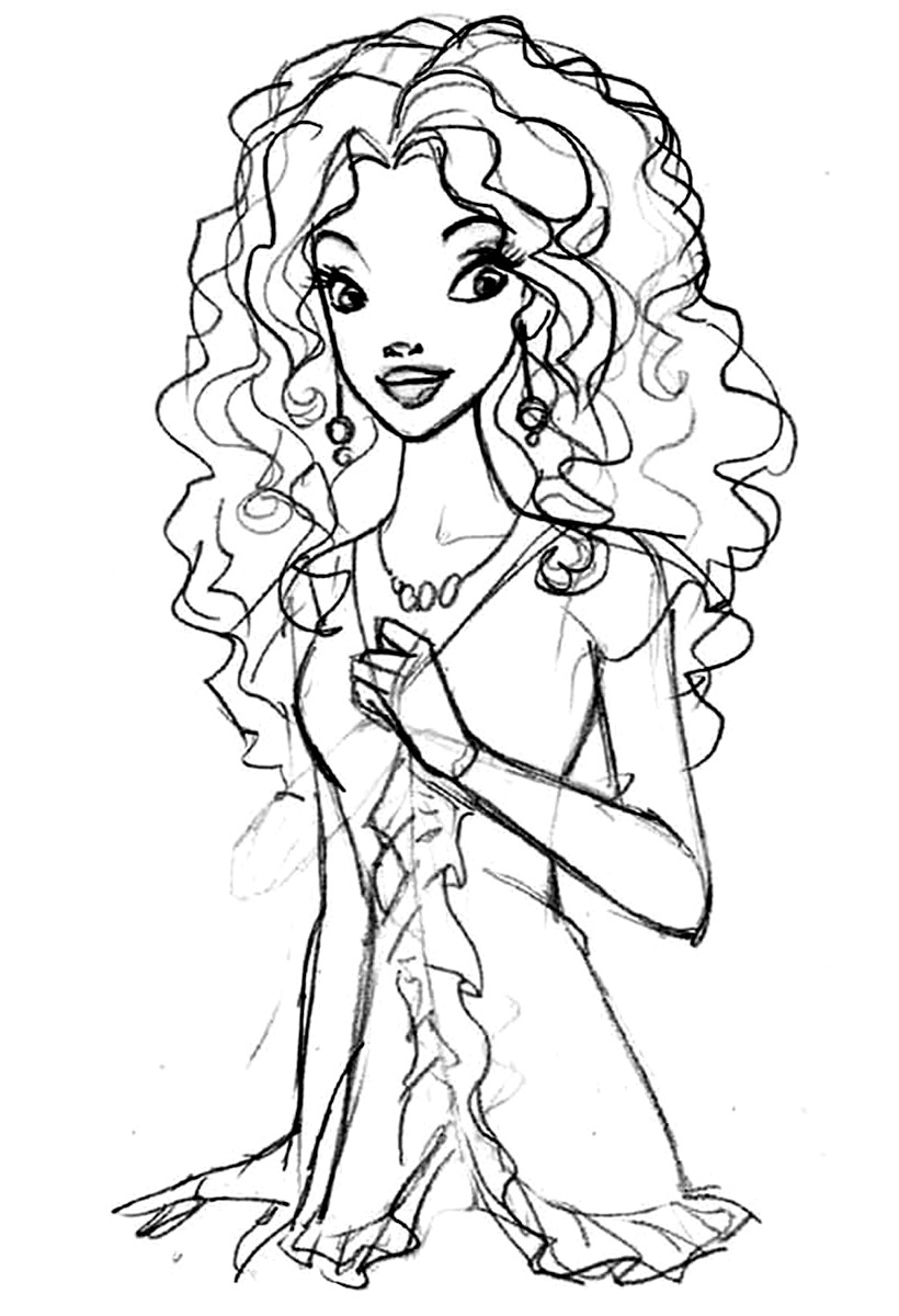 barbie coloring pages  black - or ethnic