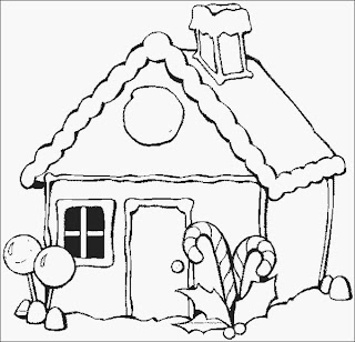 ginger bread house coloring pages - photo#21