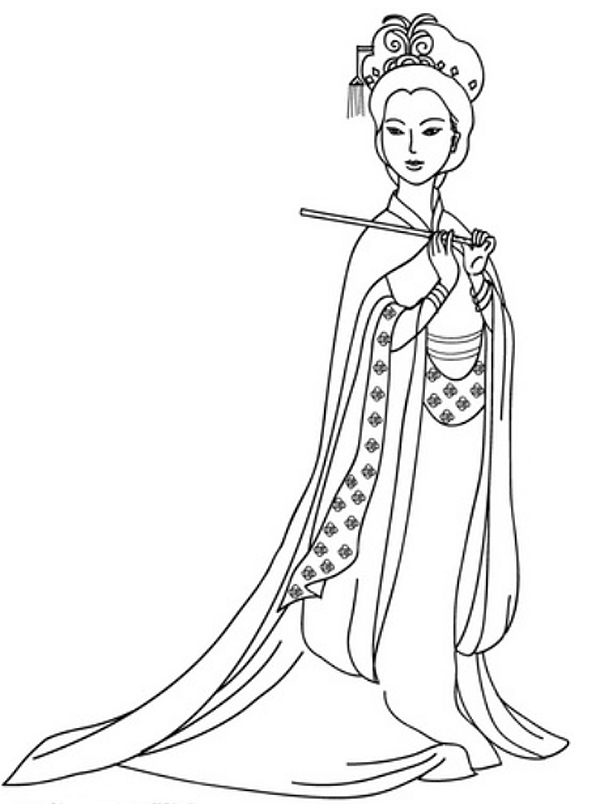 chinese coloring page - barbie coloring pages chinese china barbie coloring pages