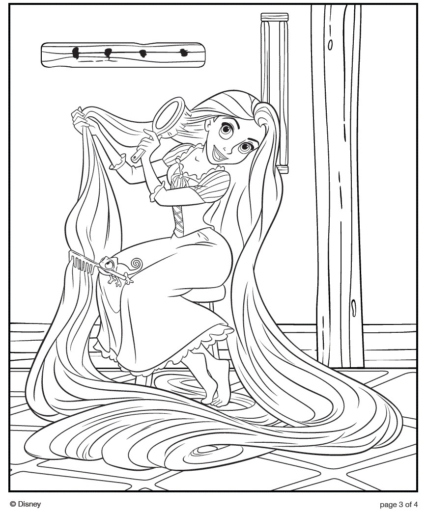 Tangled Coloring Pages Of Disney S Princess Rapunzel Coloring