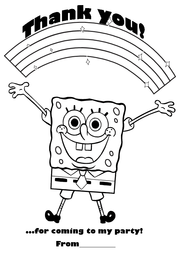 birthday printables with patrick and spongebob squarepants