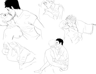 stilrankcreasob: two people kissing drawing