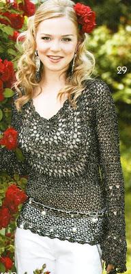 Shalon Crochês: VARIEDADES...DESCULPE POR TER SAIDO GRAFICOS EM DOSE DUPLA...HIHI :  fashion top crochet shirt