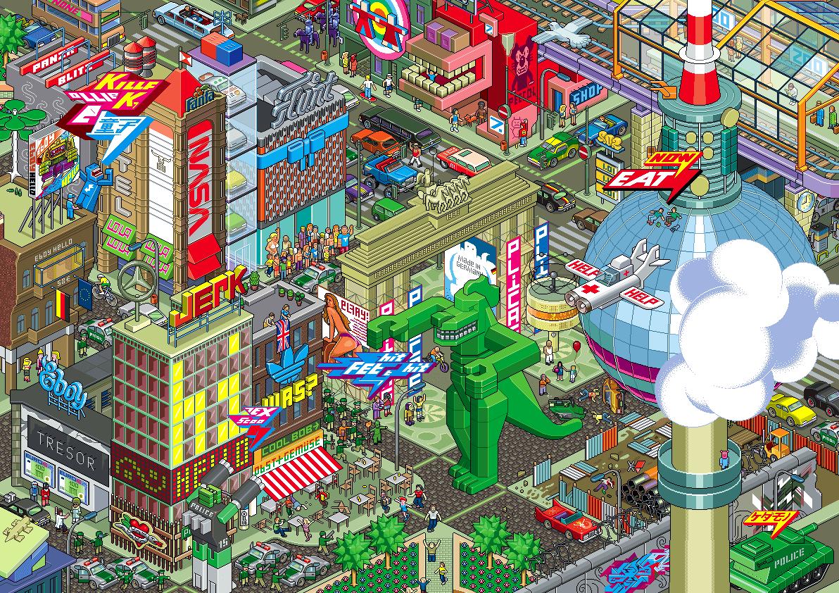 3d Perspective Wallpaper Dibujando Arquitecturas Eboy El Pixel Art Dibuja Ciudades