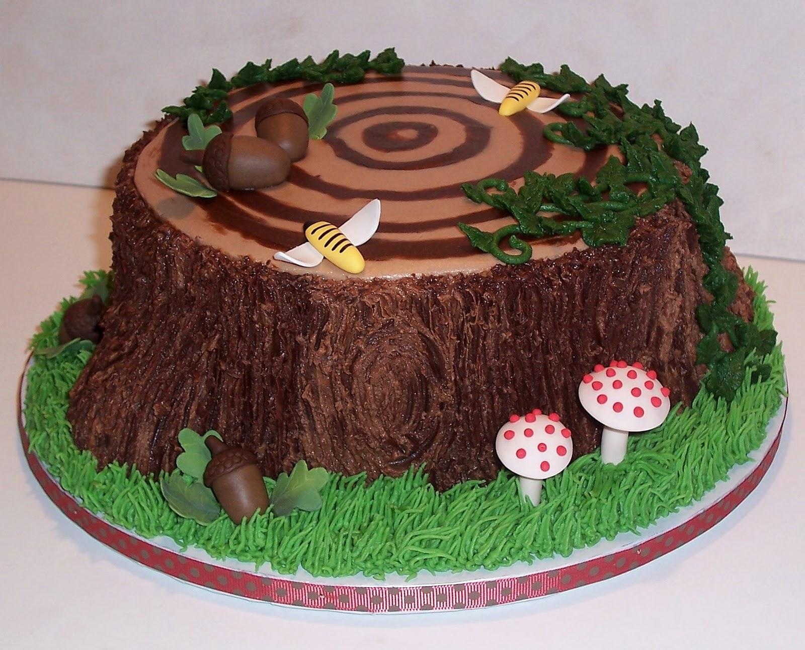 Chocolate Cake Tree Stumps Cake Ideas Baking Ideas