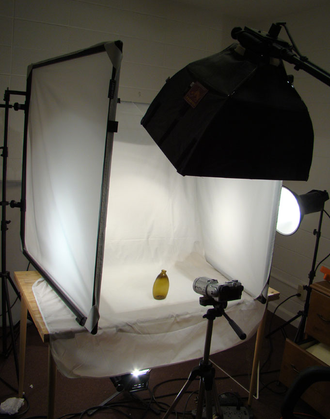 Photography Set Up In The American Bottle Auctions Studio