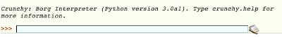 crunchy running under Python 3.0a1
