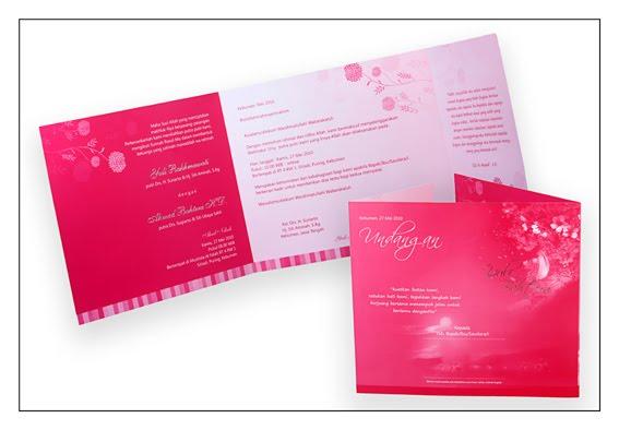 Contoh Undangan Pernikahan Pink Fresh Yuli Bahtera Kebumen Jawa