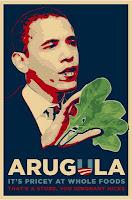 obama arugula parody poster