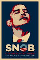 obama snob parody poster