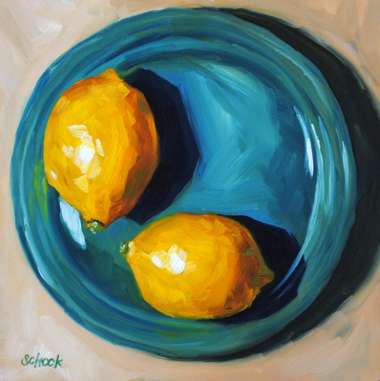 Daily Painters Of Colorado: Yellow on Blue - Lemon Still ...