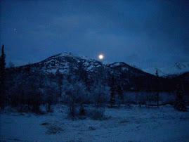AK solstice moon @ 4:15pm