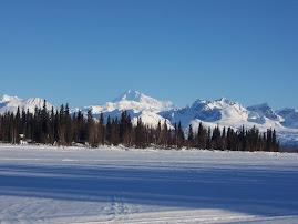 Denali from Bonco Lake in winter