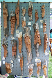 Stan's wood carvings...yup...they sell!
