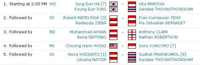 Image Result For Jadwal Final Hongkong Open
